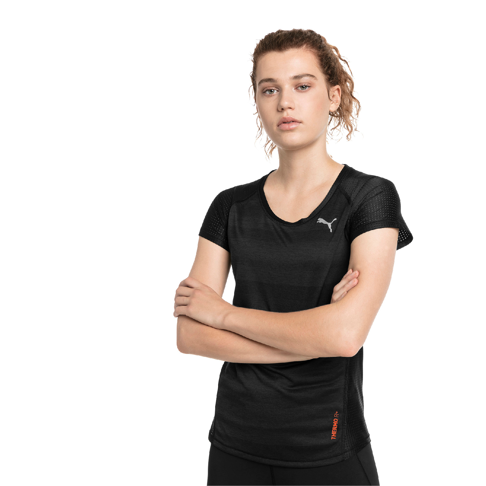 Puma Thermo-R+ S S Tee Women Run Training Tshirt 517449-01
