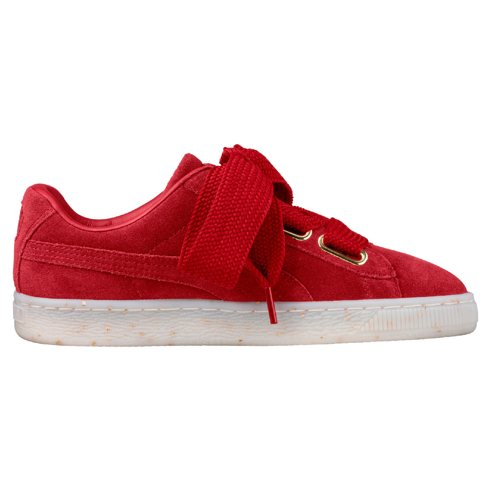 PUMA Women's Suede Heart Celebrate Wn s Red Dahlia-Red 365561-02