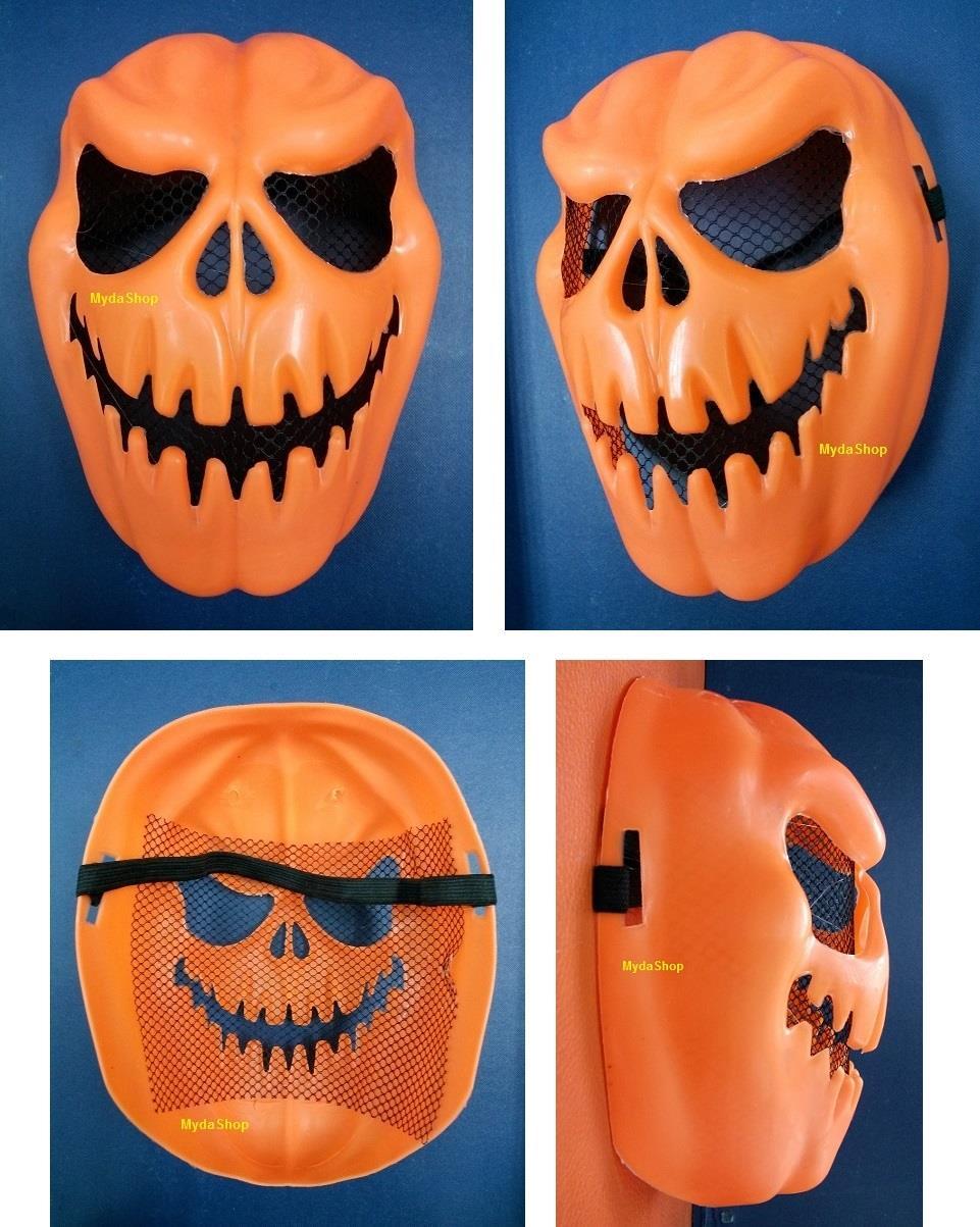 pumpkin halloween party mask topeng