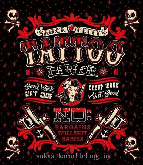 Punk Tattoo Parlour Shower Curtain End 3 21 2019 229 PM