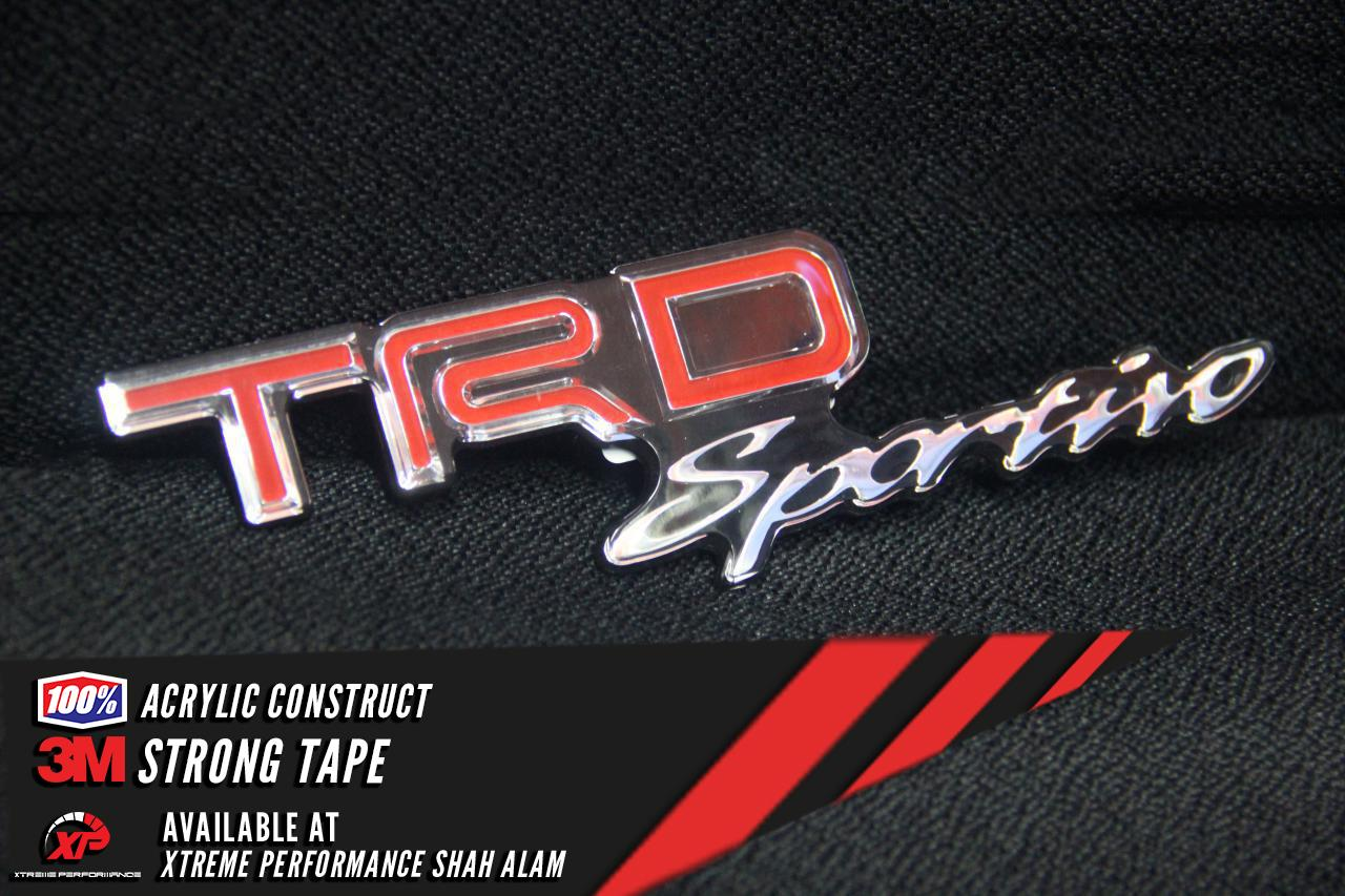 PURE ACRYLIC EMBLEM TRD SPORTIVO 3M GRADE STRONG TAPE VERSION 2