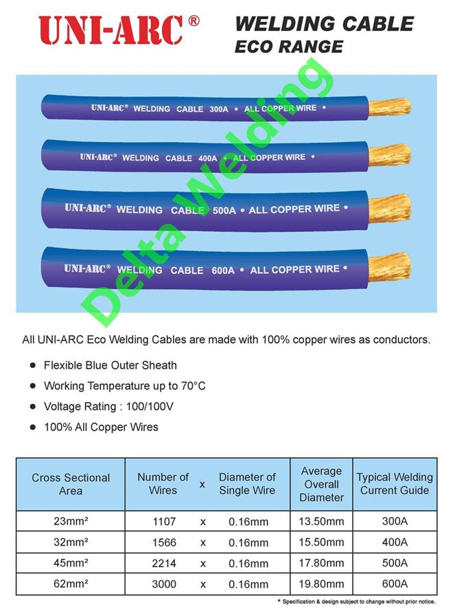 PURE COPPER WELDING CABLE FOR JUMPER MALAYSIA 300A