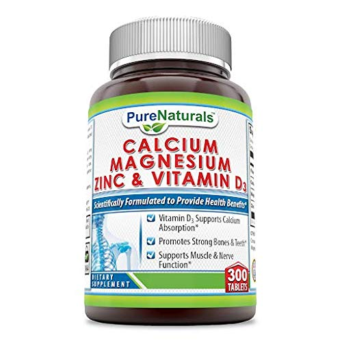 ... Pure Naturals Calcium Magnesium Zinc with Vitamin D3, 300 Tablets, Support