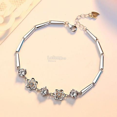 Pure Silver Bracelet Sweet Simple Chain