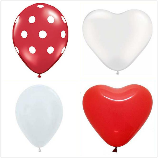 Pure Valentine Red and White Balloon Set 12ct Wedding Proposal