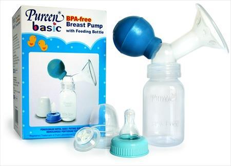 PUREEN BASIC BPA-FREE BREAST PUMP WITH FEEDING BOTTLE (1 SET)