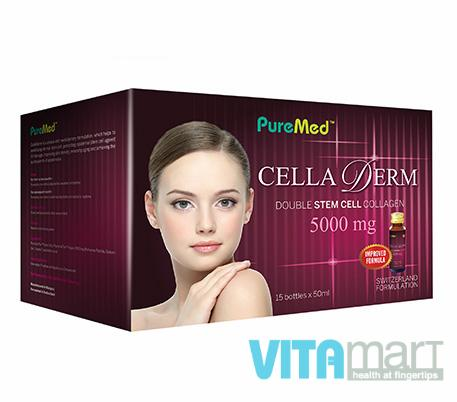 PureMed Cella Derm Double Stem Cell Collagen 5000mg 50ml x 15's