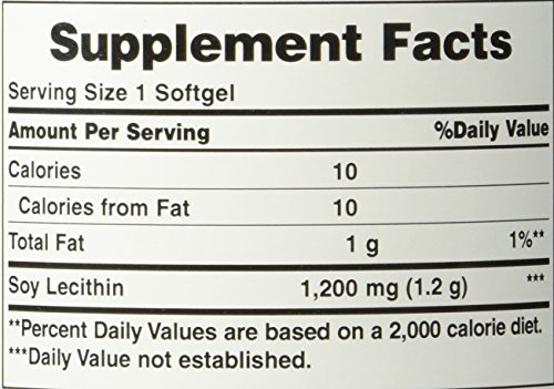 Puritan's Pride Soy Lecithin 1200 Mg, 250Count