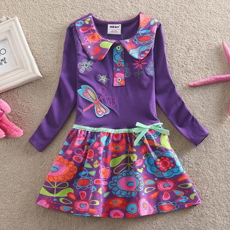 Purple Fusion Dragonfly Skirt Dress