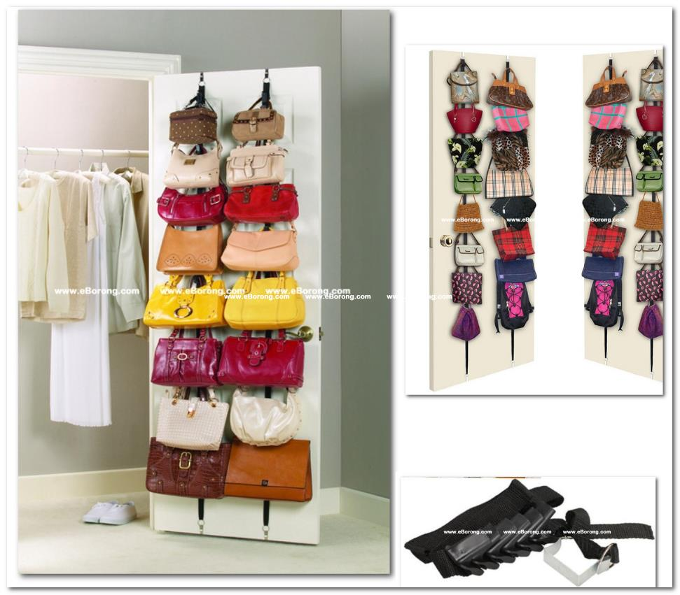 Delightful Purse Hanger Door Racks Organizer Storage Closet Hand Bag Leather Bedr