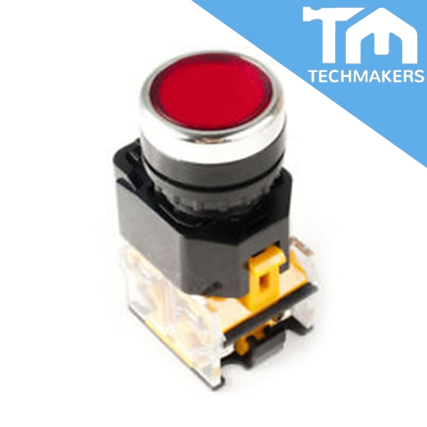 Push Button Red LA38-D