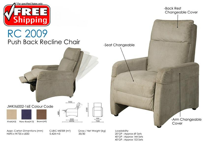 Push Back Recline Relax Chair Sofa For 1 Seater Free Delivery
