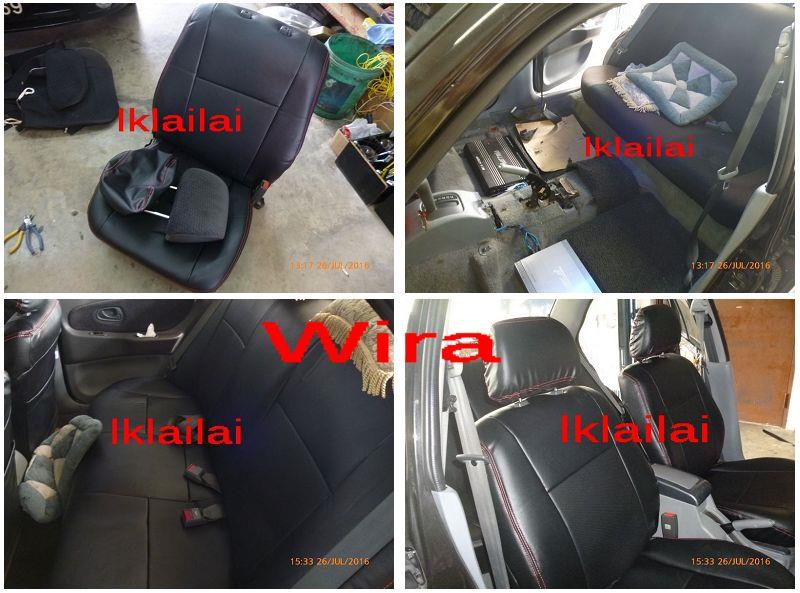 PVC CAR SEAT COVER CUSHION for Proton Wira/BLM/Iswara/Saga