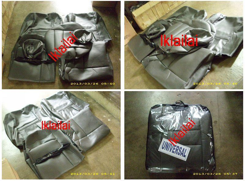 PVC CAR SEAT COVER/CUSHION for WIRA / ISWARA Grey