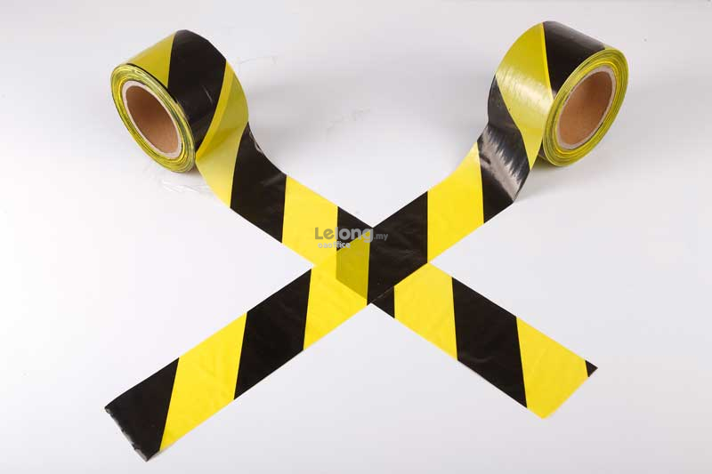 PVC Floor Tape Warning Tape 48mm x 30m Black and Yellow