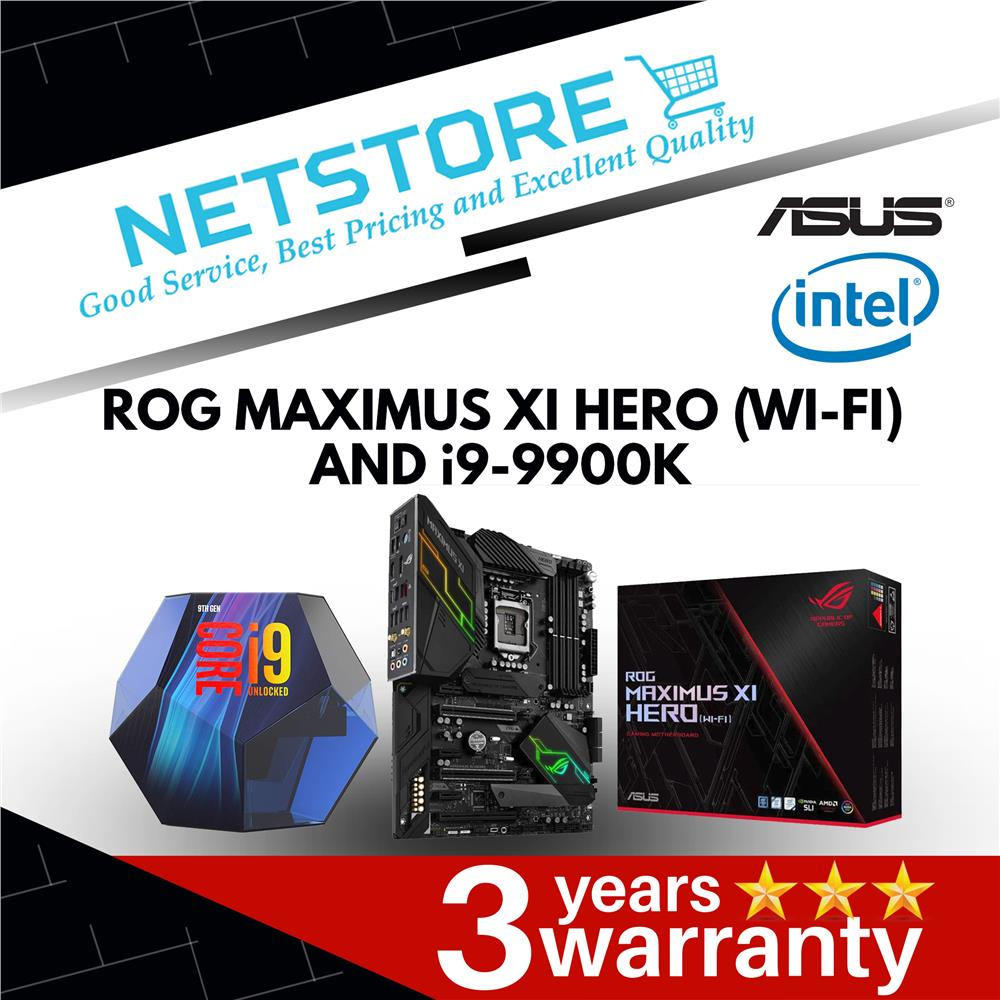 PWP ASUS MAXIMUS XI HERO (WI-FI) Z390 ATX & INTEL I9-9900K PROCESSOR