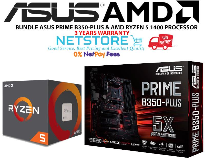 PWP ASUS PRIME B350-PLUS & AMD RYZEN 5 1400 PROCESSOR
