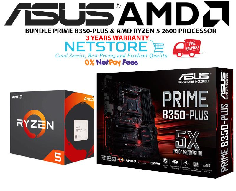 PWP ASUS PRIME B350-PLUS & AMD RYZEN 5 2600 PROCESSOR