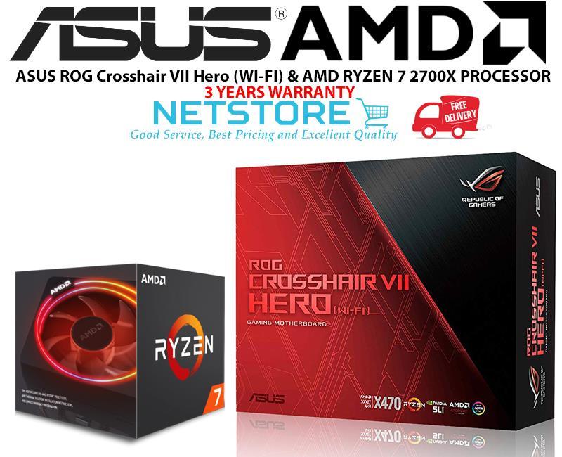 PWP ASUS ROG CROSSHAIR VII HERO (WI-FI) & AMD RYZEN 7 2700X PROCESSOR