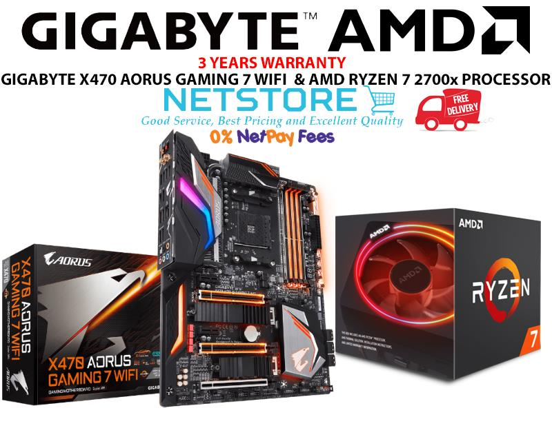PWP GIGABYTE X470 AORUS GAMING 7 WIFI & AMD RYZEN 7 2700x PROCESSOR
