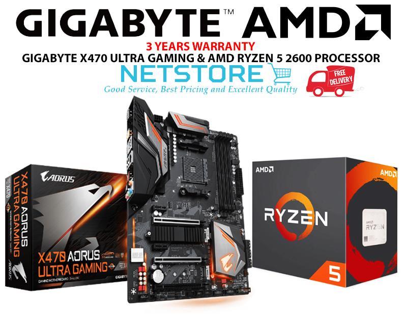 PWP GIGABYTE X470 AORUS ULTRA GAMING & AMD RYZEN 5 2600 PROCESSOR