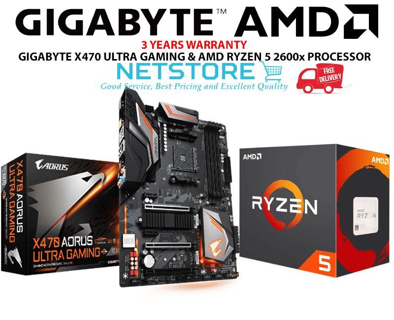 PWP GIGABYTE X470 AORUS ULTRA GAMING & AMD RYZEN 5 2600X PROCESSOR