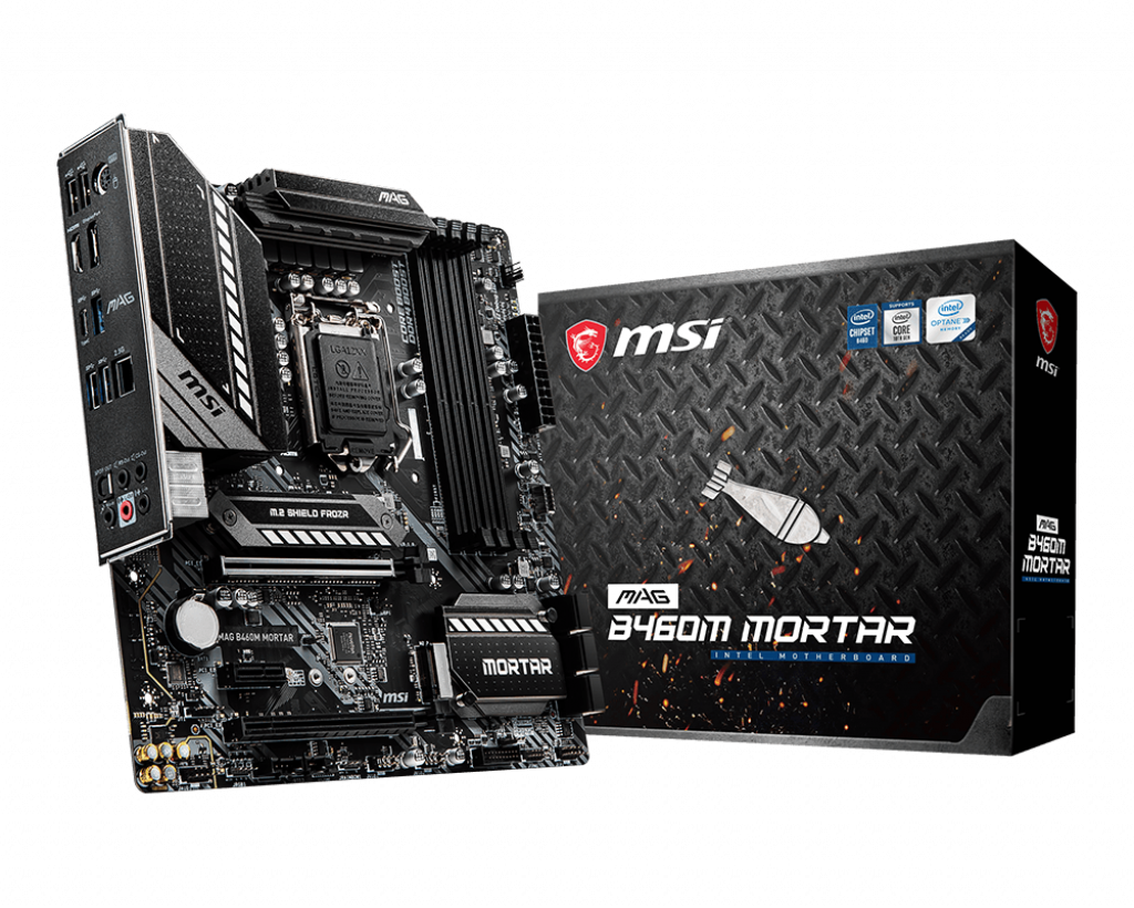 PWP MSI MAG B460M MORTAR mATX & INTEL CORE I3-10105F PROCESSOR