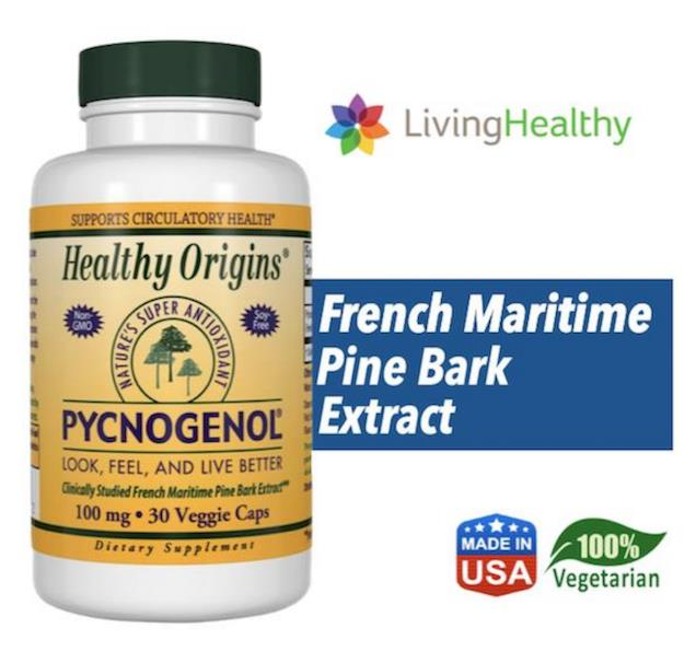 Pycnogenol 100mg (Diabetes, Hypertension, Cholesterol) Vegetarian