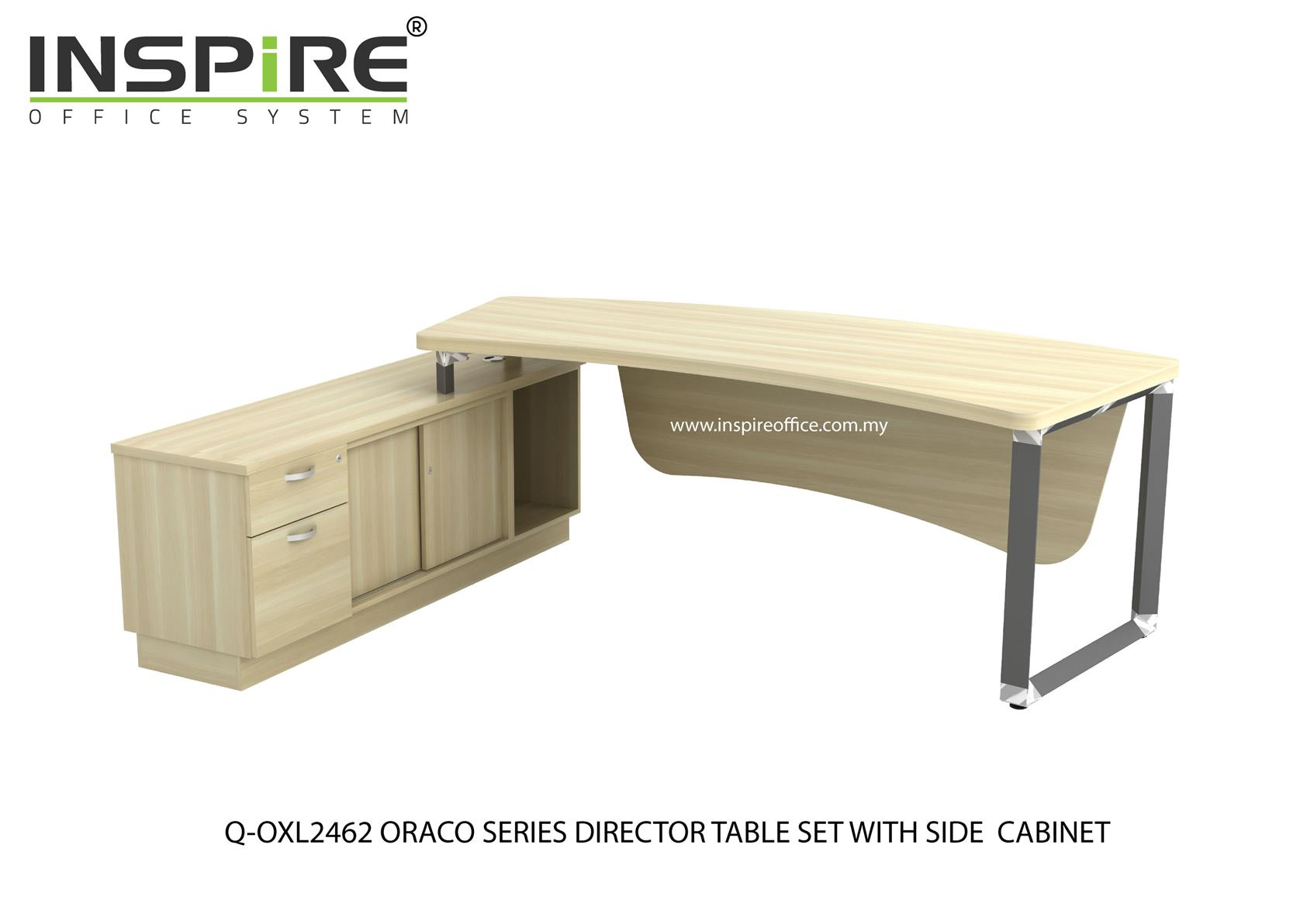 Q-OXL2462 ORACO SERIES DIRECTOR TABLE SET WITH SIDE CABINET (TABLE TOP