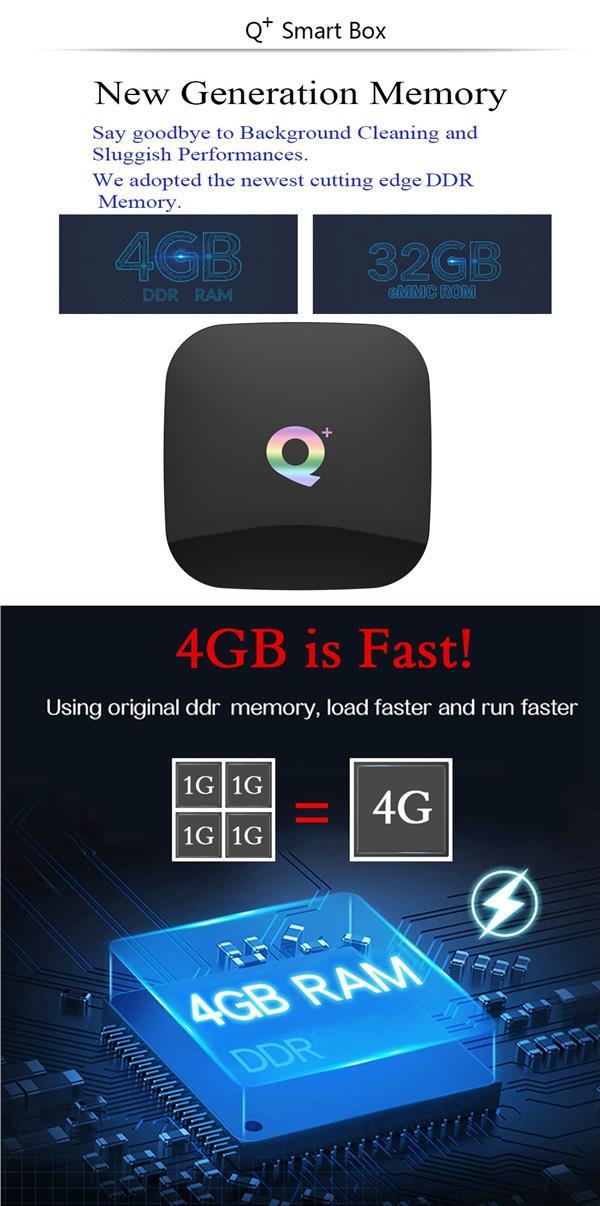 Q Plus Allwinner H6 4GB+32GB ROM Android TV BOX / IPTV / 6K