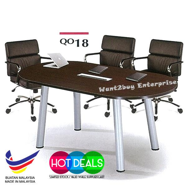 Q Series Office System Meeting Round End PM - Round conference table for 10