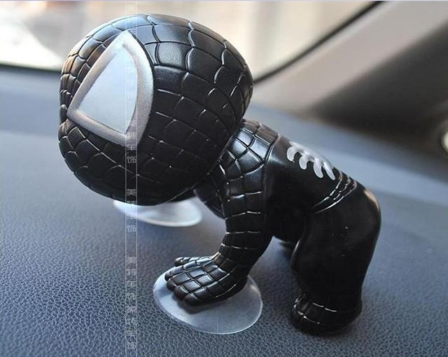 Q version of Spider-Man cartoon doll doll car ornaments with Sucker Sp