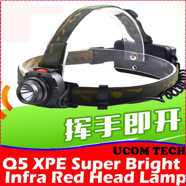 Q5 XPE Super Bright Infra Red Head Lamp Torchlight Torch Light