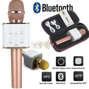 Q7 🎤 Bluetooth Wireless Microphone Mic Karaoke Speaker