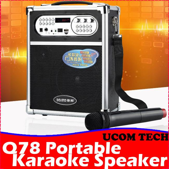 Q78 Portable Karaoke Speaker Stereo (end 1/14/2020 1:15 PM