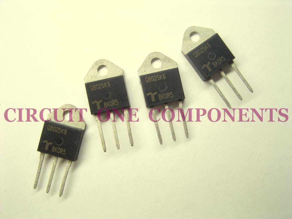 Q8025K6 Genuine TECCOR Bi-Directional AC TRIAC - Each