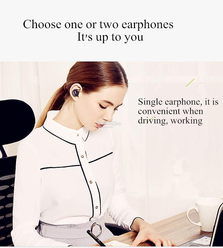 QCY Q29 Mini Wireless Bluetooth 4.1 Double Dual Headphone