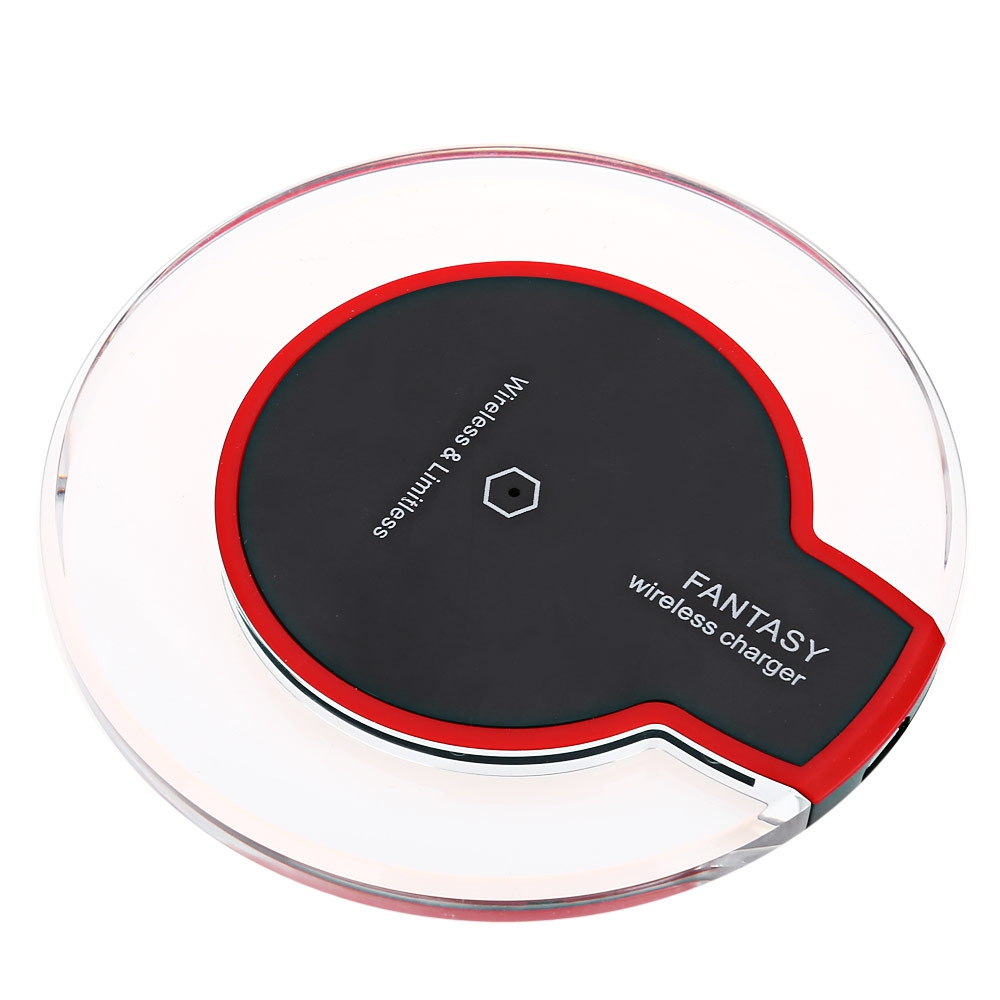 QI ENABLED DEVICES TRANSPARENT BORDER WIRELESS CHARGER (BLACK)