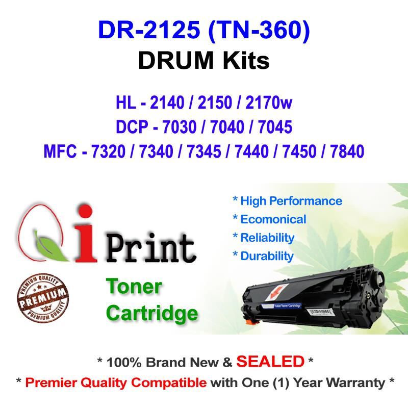 Qi Print Brother DR2125 HL2140 2150 DRUM Compatible * NEW SEALED *
