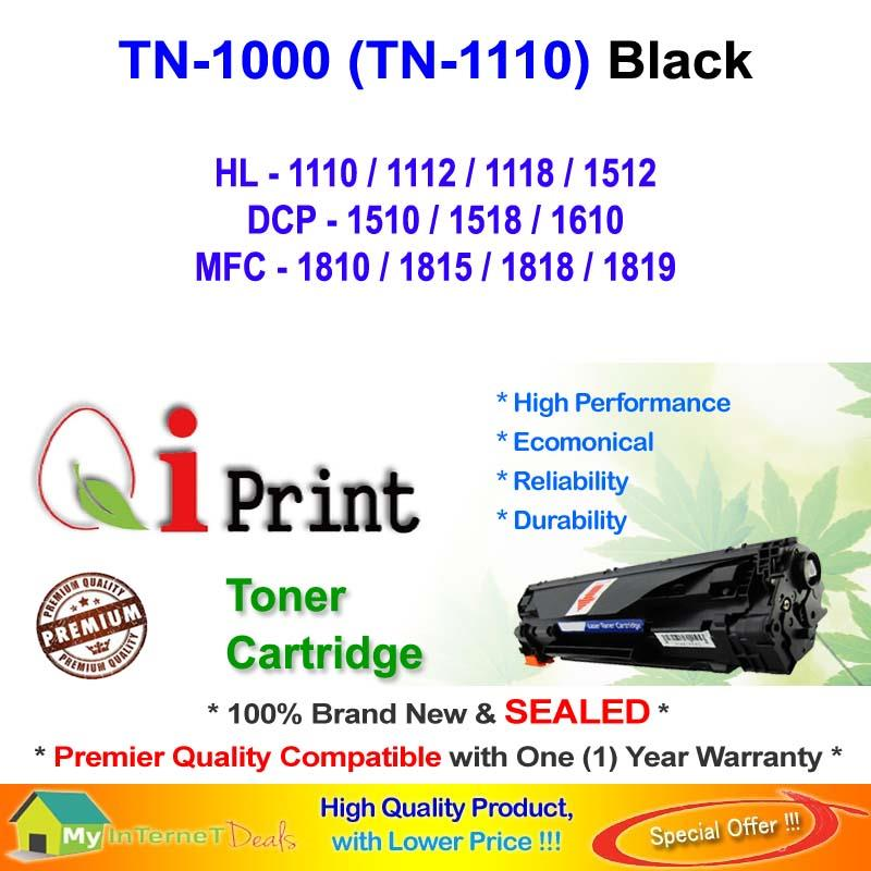Qi Print Brother TN1000 1110 HL1100 1110 Toner Compatible *NEW SEALED*