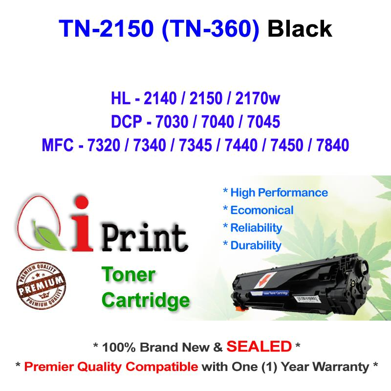 Qi Print Brother TN2150 TN360 HL2150 2140 Toner Compatible * SEALED *