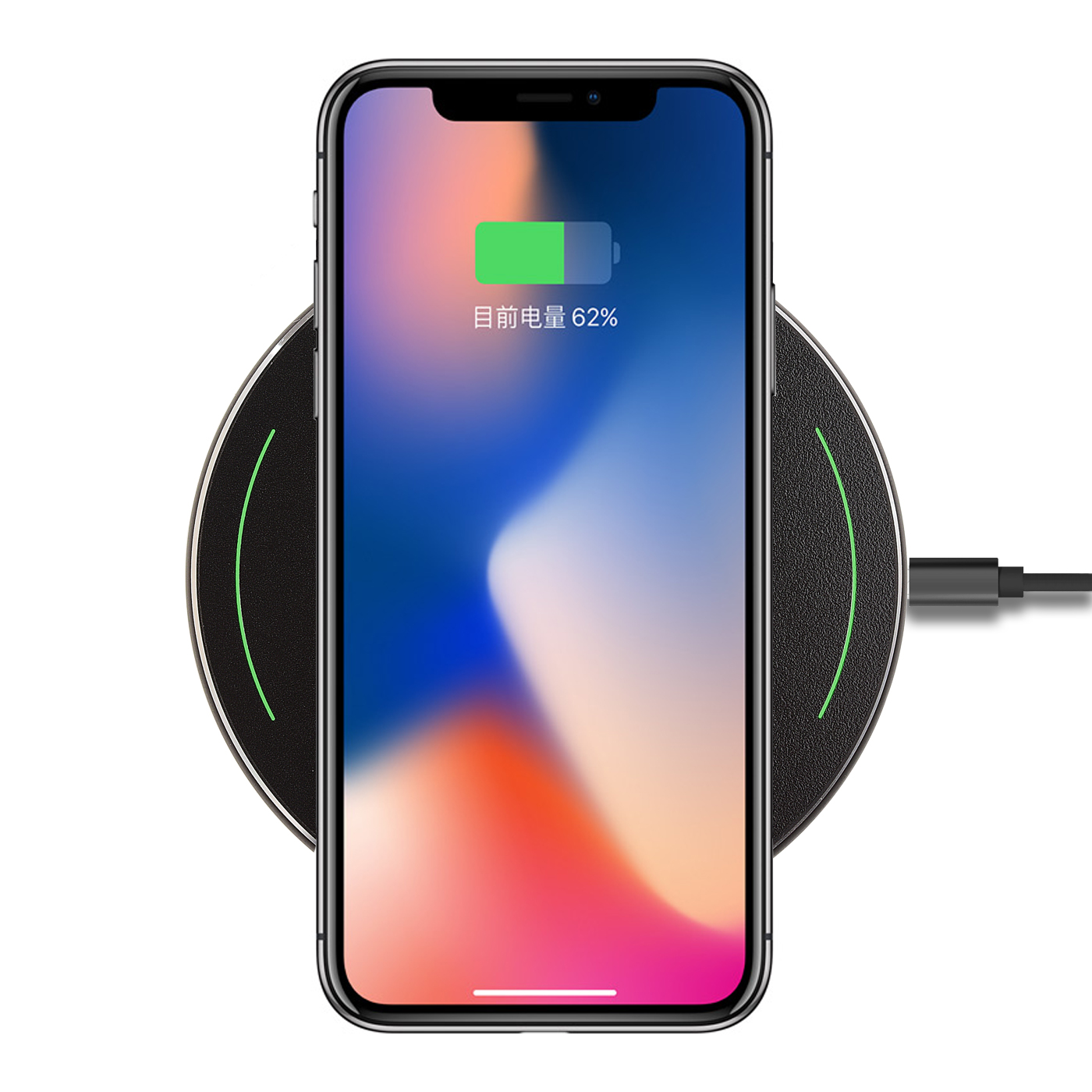 online store fb498 61da7 Qi Wireless Charger Charging Pad for iPhone 8 8 Plus X Samsung Note 8 ..