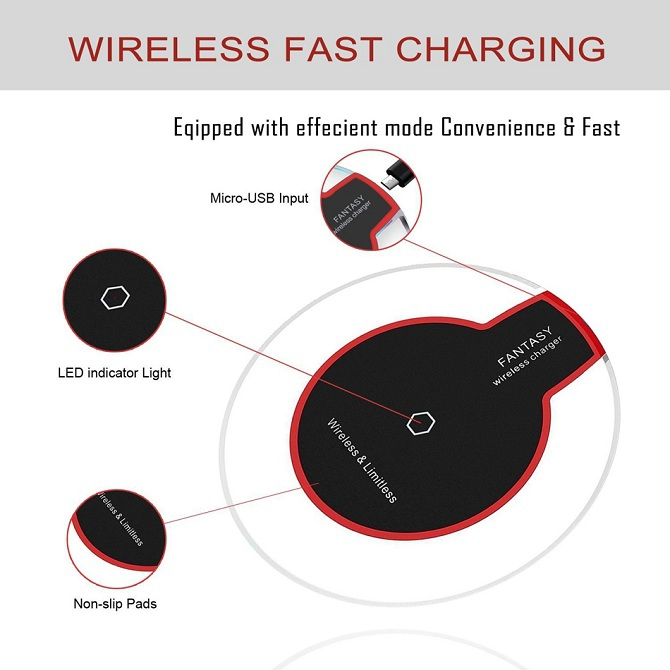 QI Wireless Fast Charger Charging Pad For iPhoneX