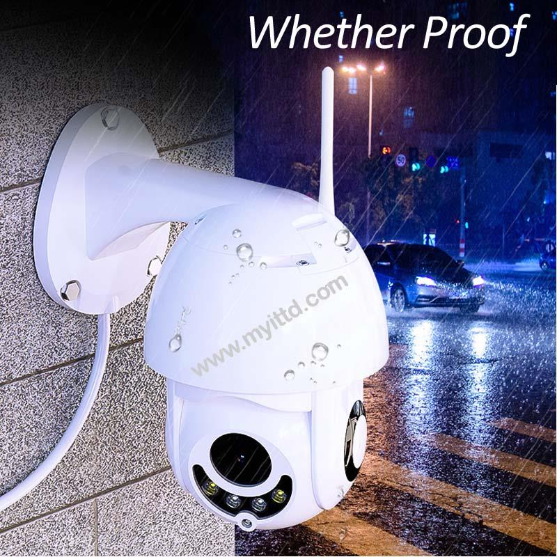 Qi Wireless WiFi iP PTZ CCTV Security Camera HD 1080P 2MP