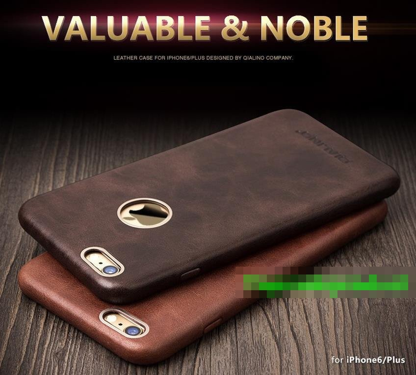 new product d4ae5 f9fbf QIALINO Genuine Leather iPhone 6 6S / Plus Back Case Cover Casing