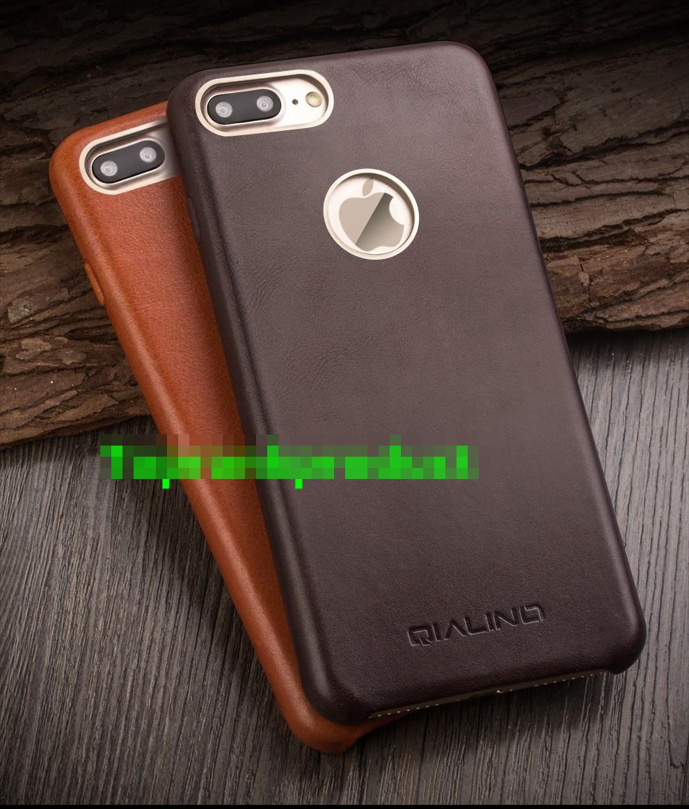 QIALINO Genuine Leather iPhone 7 / Plus Back Case Cover Casing + Gift