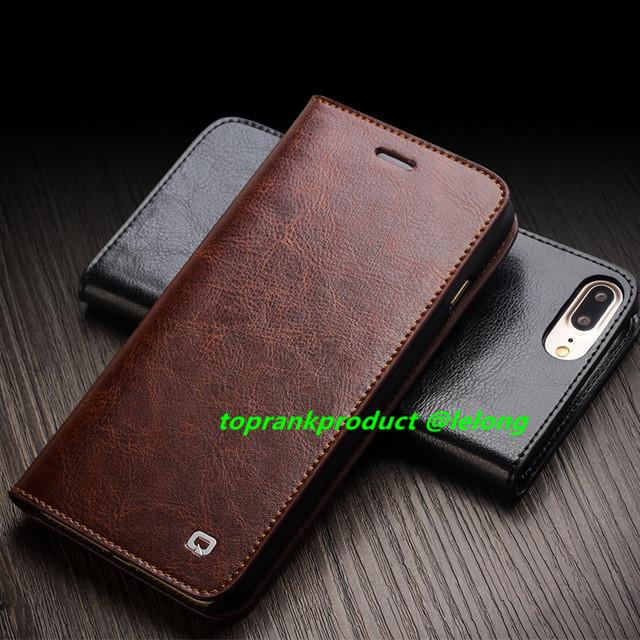 buy online 024a8 bbdc0 QIALINO Genuine Leather iPhone 7 / Plus Flip Wallet Case Cover Casing