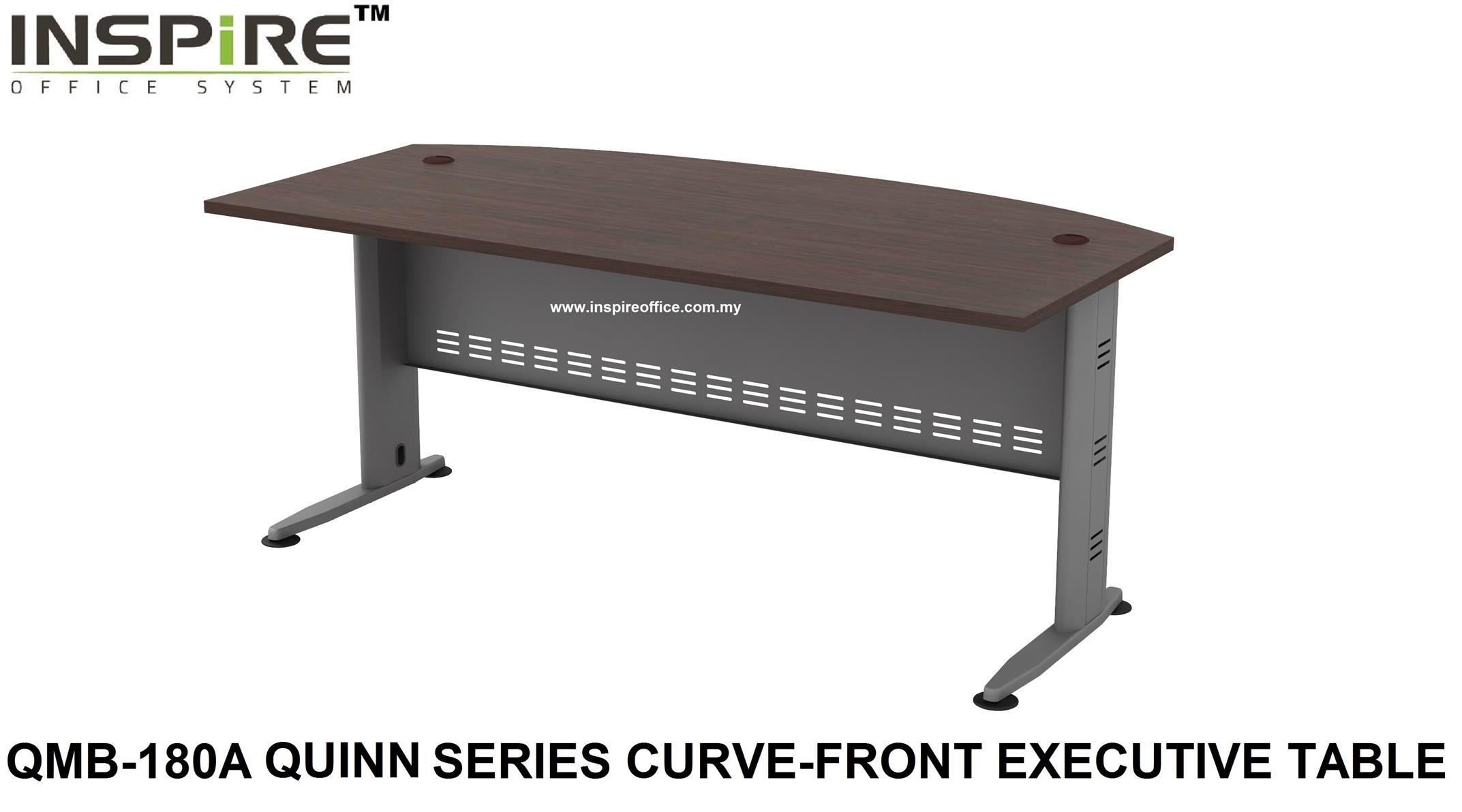 QMB-180A QUINN SERIES CURVE-FRONT EXECUTIVE TABLE