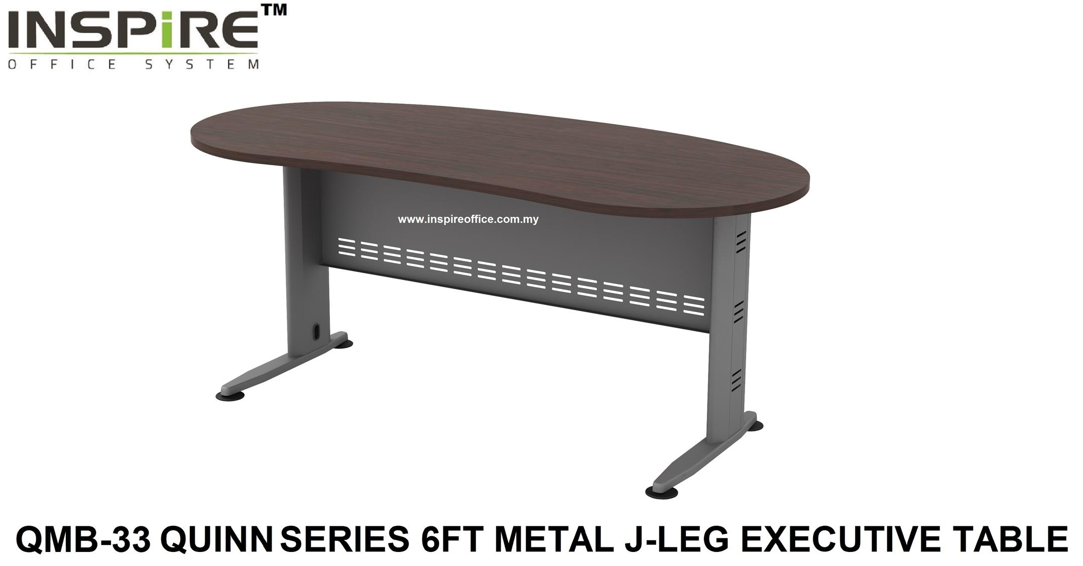 QMB-33 QUINN SERIES 6FT METAL J-LEG EXECUTIVE TABLE