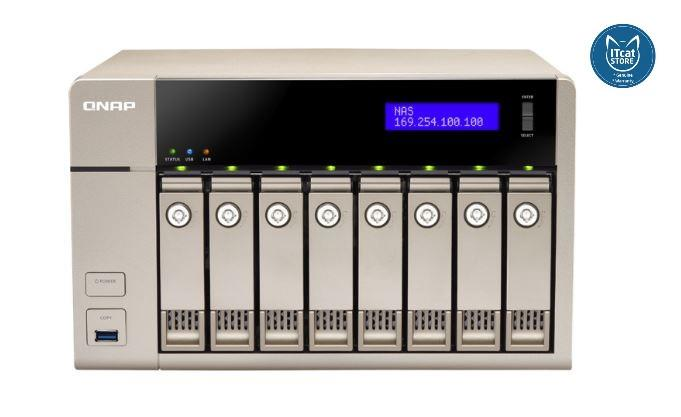 NEW QNAP 10GBE-ENABLED GOLDEN CLOUD TURBO VNAS-2YW (TVS-863-4G)